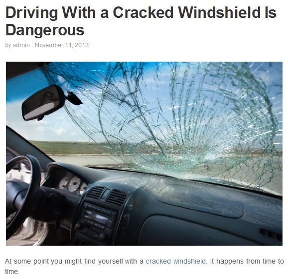 are cracked windscreen illegal street